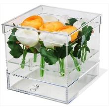 Acryl Geschenkbox für Blume mit Schublade