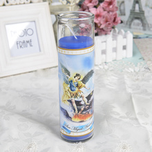 Glas Memorial Tall Jar Candle med bilder skrivna