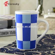 Travel mug with handle ceramic mug with lid and handle