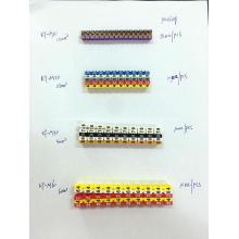 ROHS M Typ Kabelmarkierer mit unterschiedlicher Kennzeichnung