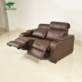 2021 New Design Living Room Power Recliner Sectional Reclining Sofa, Genuine Leather Recliner with Cup Holder