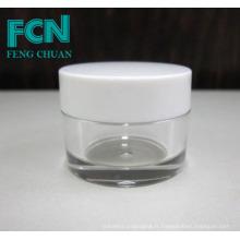 Qualité acrylique petit cosmétique blanc emballage crème pour soins de la peau vide jar 5g
