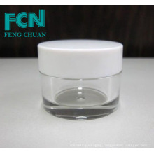Acrylic quality small white cosmetics packaging skin care cream empty jar 5g