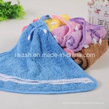 Serviette de cuisine de serviette de velours de corail de bande dessinée de double-absorbant de serviette de Super-Absorbant