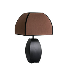Factory Directly Provide high quality minimalist brown table light home study decoration fabric classic table lamp for Bedside