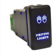 Luz LED 3 AMP 12V Púrpura Car Custom Bar Interruptor de botón con alambre