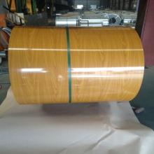 Imitação de madeira porta aço