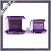 Pierres précieuses en zircone brillant améthyste coupé brillant (STG-134)