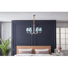 Amerikanisches Design-Restaurant mit Lampenschirm-Eisenleuchter