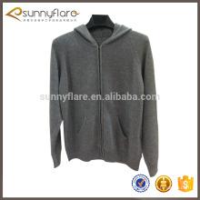 Jersey de punto de cachemira, suéter personalizado con cremallera
