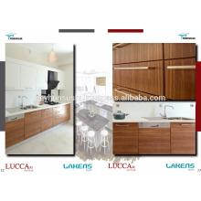 Фабрика LUCCART турецкого производства экономической кухонный шкаф с дерева структурированы рельсами melamined МДФ двери