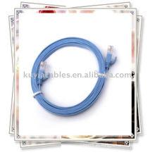 Blue Flat Ethernet Cat6 Patch Cable Compatible con todas las configuraciones de jack RJ45