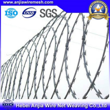 China Supplier Galvanzied Razro Barbed Wire for Single Coil