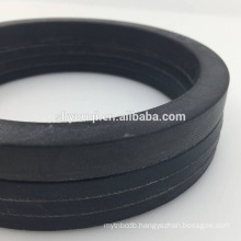 Big size customized NBR vee packing ring with the fabric for the PTA machine