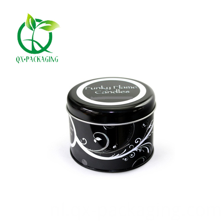 Black candle tins wholesale