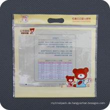 Benutzerdefinierte gedruckt Kunststoff PE Slide Zip Verpackung Tasche