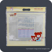 Custom Printed Plastic PE Slide Zip Packaging Bag
