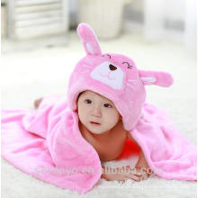 Bamboo baby hooded towel Cute rabbit China suppiler keep baby warm and cozy Baby bath set for kids and girls and boys