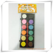 Pintura promocional sólido-seco colorido aquarela conjunto de presente da promoção (oi33008)
