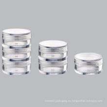 Tarro de plástico transparente de como (NJ01)