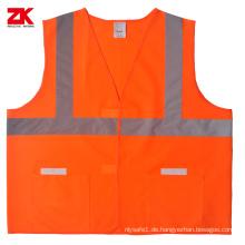 Reflektierende Sicherheitsweste aus Polyester ANSI / ISEA 107