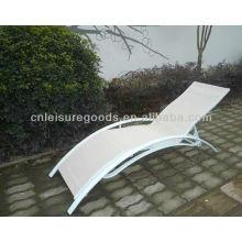 chaise longue en aluminium textoline jardin plage chaise longue