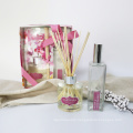100ml room spray and 100 reed diffuser gift set in color box for home and gift