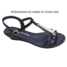 2016 dernières mode haute qualité diamant dames wedge sandales à talons