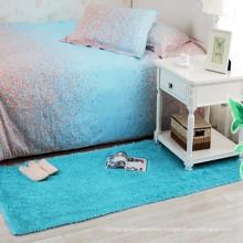 bedside blue long hair runner shaggy carpet rug