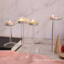 Golden Candlestick Glass Romantic Candlelight Dinner Props Simple Modern European Candle Holder Glass for Home Decor