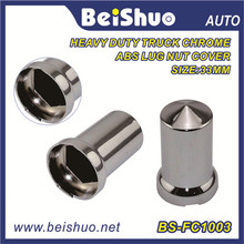 Stainless Steel Decorative Cap Nut Truck/Car/Bus Parts Lug Nut Cover Lug Nut Hub Caps Racing ABS Chrome