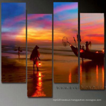 Modern Handmade Canvas Seascape Painting for Decor (SE-082)