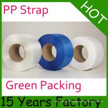 Courroies en plastique d'emballage de Clourful pp / bande de cerclage de polypropylène / cerclage industriel
