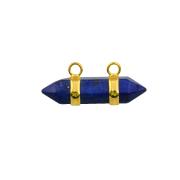 Sterling Lapis Lazuli Hexagon Bicone Pendant Fashion Accessories Jewelry