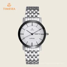 Montre de montre en acier inoxydable résistant à l'eau Hot Style 72328