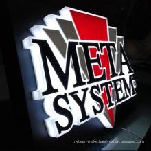 Custom advertising 3d channel letter led backlit logo lightbox letters fulllit acrylic sign