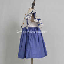 boutique flutter sleeve eyelet fabric baby dress