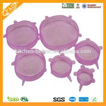 2014 Hochgeladene Lebensmittelqualität Küchen Universal Silikon Stretch Lebensmittel Deckel