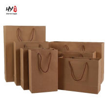 Good quality brown kraft papaer durable shopping tote bag