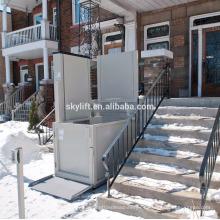 Elevador de escalera hidráulico eléctrico 1-8m para personas con discapacidad