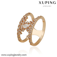 14885 xuping trending product new design luxury ring in 18k plating with copper alloy for women