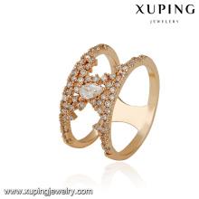 14885 xuping tendências de produto novo design de luxo anel em 18k chapeamento com liga de cobre para as mulheres