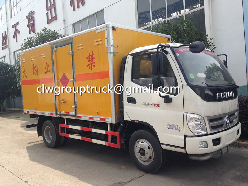 FOTON AUMAN Flammable Gas Van Truck