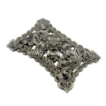 Carving flower shape belt buckle with  archaize