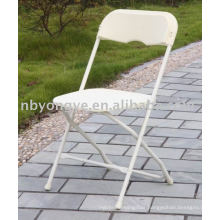 metal frame injection plastic folding chair