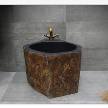 Salle de bains en marbre naturel solide utilisé lavabo à vendre