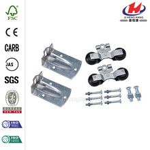 Zinc-Plated Flexible Round Rail Hanger Kit