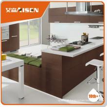 Gabinete de cozinha modular de encadernação de madeira de desempenho estável