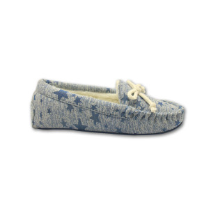 Professional Design for Moccasins For Women comfortable blue star print moccasins slippers for ladies export to Cuba Importers