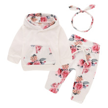 2021 Best Selling Children Floral Solid Colors Two Pieces Spring Suits